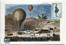 CARTE PHILATELIQUE  MONTBARD 1967 EXPOSITION  DES PTT  BALLON MONGOLFIERE