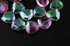 10pcs Hot Colorized Glass Triangle Beads Spacer Jewelry Finding 18mm Charms