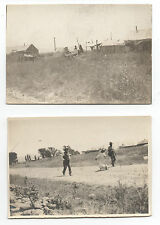 Two 1910 Photos of Indian Camp and Hiking near Sparks Nevada