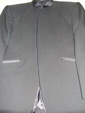 Men's Black European Mandarin Nehru Tuxedo Jacket from Jean Yves Paris Size 38R