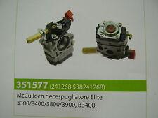 CARBURATORE DECESPUGLIATORE MCCULLOCH ELITE 3300/3400/3800/3900 - B3400