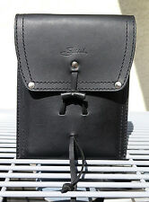 NEW! Saddleback Leather POUCH with Strap in Black with Black Pigskin Lining
