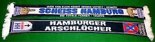 "Anti Hamburg Schal ""SCHEISS HAMBURG"" Ultra Fan Block 100% Acryl NEU + 150x15 cm"