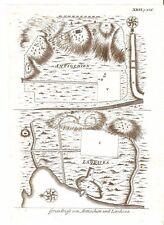 Antique map, Grundriss von Antiochien und Laodicea