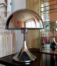 Lampe champignon tactile argentée  vintage déco  design  Scandinave rétro