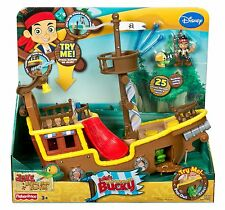 Fisher Price Jakes Never Land Pirates Jakes Bucky Musical Pirate Ship **NEW**