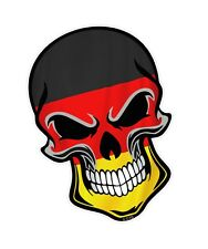 LARGE GOTHIC Biker SKULL Germany German Country Flag vinyl car sticker Decal