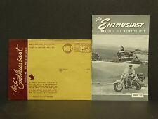 Vintage Harley Davidson Enthusiast Magazine January 1953 Motorcycle Pirate Run
