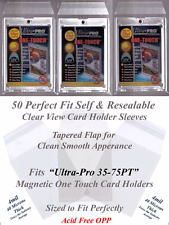 50 Perfect Fit Ultra Pro Magnetic Card Holder Sleeves Fits 35 55 75 PT Cases