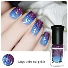 6ml Color Changing Peel Off  Thermal Nail Glitters Polish Dark Purple to Blue
