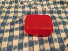 Tupperware® NEW Red Packable Oyster Snack Container Keeper Reusable