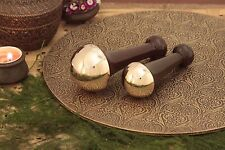 BRONZE/KANSA INDIAN BODY MASSAGER FOR HEALTH BENEFITS THE SIZE-SMALL