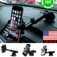 360°Car Holder Windshield Mount Bracket For Mobile Cell Phone iPhone Samsung GPS