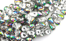 50 CRYSTAL VITRAL GLASS TEAR DROP BEADS 8MM LIMITED