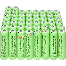 50x AA battery batteries Bulk Nickel Hydride Rechargeable NI-MH 3000mAh 1.2V Gre