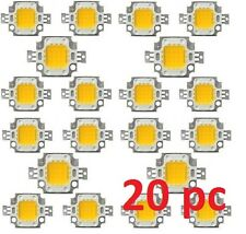 20 pcs LOT OF 10W White High Power LED SMD LED CHIP bulb light lamp 9-12V DC
