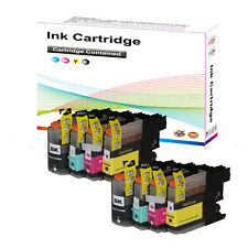 8 XL Chipped Ink Cartridge for Brother LC125XL LC127XL DCP J4110DW MFC J4410DW P