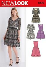 NEW LOOK SEWING PATTERN Misses' Dress with Bodice Variations SIZE 10 - 22 6370