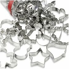 30-Piece Holiday Cookie Cutter Set Christmas Snowman Tree Star Pastry Cutters