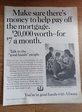 1968 Allstate Insurance Ad Money to Help Pay off the Mortgage