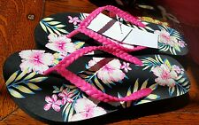 Women's FLORAL PRINT slippers Shoes Sandals size 8