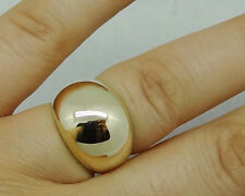 R024-  Genuine Heavy 9K SOLID Yellow Gold 15mm WIDEST DOME Ring size M