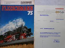Fleischmann Gesamtkatalog 1975 incl. Anschreiben und Preisliste, 84 S. gebraucht