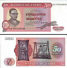 ZAIRE 50 ZAIRES 1980  UNCIRCULATED  P 17b