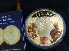 2013 BIG 88mm GOLD PLATED PROOF COIN BOX + COA THE  200th ANN LAST GUINEA COIN