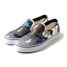 Vans Classic Slip On Van Doren Black 80'S Lips Women's Skate Shoe Size 6.5