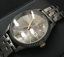 Mens Caravelle Watch By Bulova President  Gunmetal Serviced Black Pvd