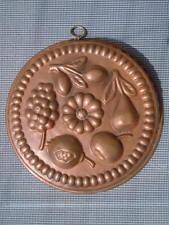 Moule à gâteau cuivre étamé décor de fruits