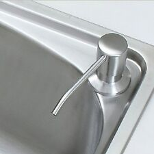 Free Ship Brushed Nickel Stainless Steel Kitchen Sink Soap Dispenser Deck Mount