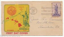 Rare DUKE KAHANAMOKU Autograph 1937 HAWAII First Day Cover