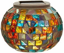 Solar Powered Mosaic Glass Ball Garden Lights Color Changing Solar Table Lamp...