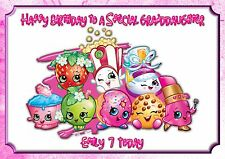 Personalised birthday card shopkins daughter sister grandaughter  friend mkk