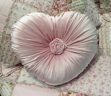 Shabby Chic French Country Cushion / Throw Pillow Pink Heart Velvet