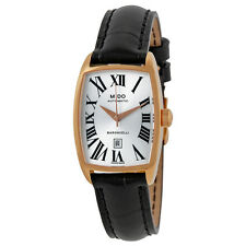 Mido Baroncelli Silver Dial Black Leather Ladies Watch M0031073603300
