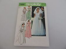 Simplicity Cut Sewing Pattern 7886 Size 10 Wedding Dress Bridemaid 1977 Vintage