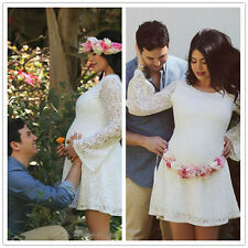 Short Lace Maternity Bridal Gown White Ivory Pregnant Wedding Dresses Plus Size