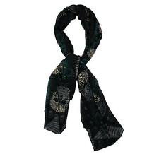 Black Multi Skull Design Scarf Day of the Dead Scarf Punk Gothic Rock Halloween