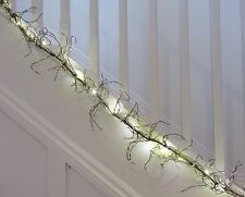 Cream Beaded Wire Garland wBattery lights also table decoration Xmas or weddings
