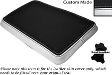 WHITE & BLACK CUSTOM FITS SUZUKI 350 GOOSE REAR SLIP ON LEATHER SEAT COVER