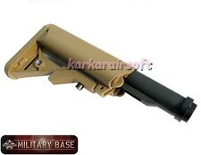 Airsoft SOPMOD MOD Crane Stock w/ Buffer Tube for AEG DARK EARTH