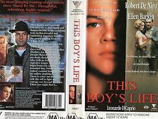 THIS BOY'S LIFE -Leonardo DiCaprio Robert De Niro  -VHS -PAL -NEW -Never played!