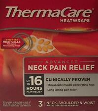 THERMACARE HEAT WRAPS FOR NECK, WRIST & SHOULDERS - 3 SINGLE USE WRAPS