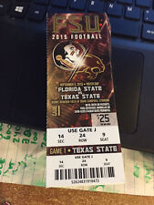 2015 FLORIDA STATE SEMINOLES VS TEXAS STATE FOOTBALL TICKET STUB 9/5