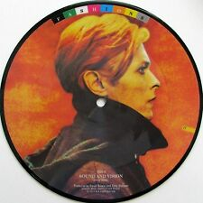 """DAVID BOWIE 'SOUND AND VISION' UK PICTURE DISC 7"""" SINGLE (FROM FASHIONS SERIES)"""