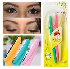 3pcs Hot Tinkle Eyebrow Face Razor Trimmer Shaper Shaver Blade Hair Remover Tool