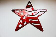 Stars and Stripes Barn Star Metal Wall Art Decor/Wall Hanging Red 7""